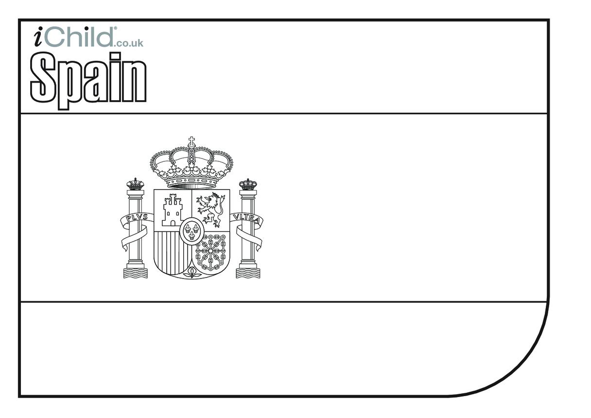 Spanish Flag Colouring in (flag of Spain)