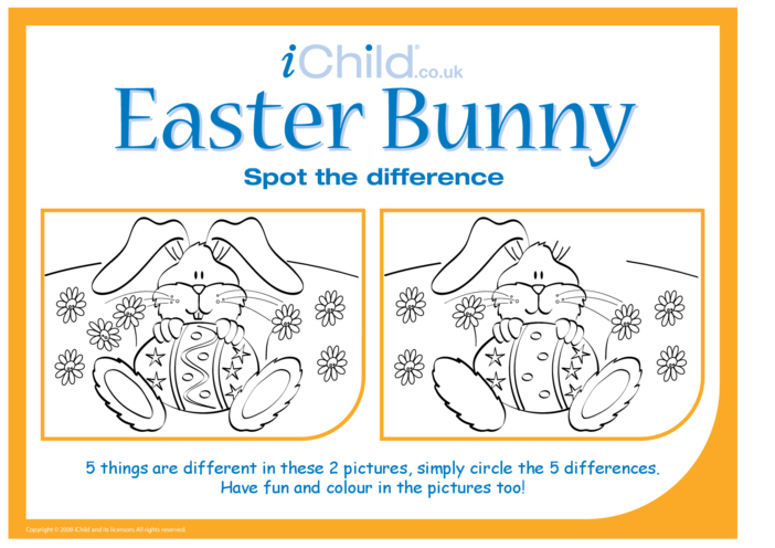 Thumbnail image for the Easter Spot the Difference activity.