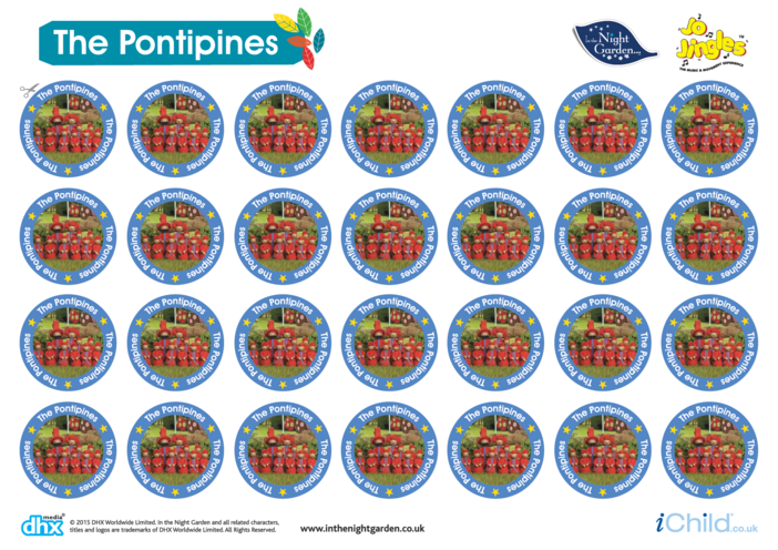 Thumbnail image for the In the Night Garden Sticker Sheet: The Pontipines activity.