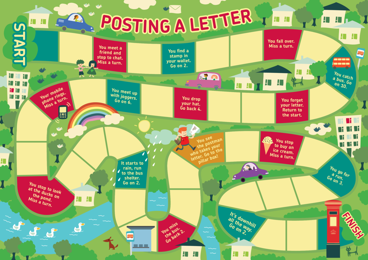 Posting a Letter Game A3 Board For The Game (EYFS/KS1)