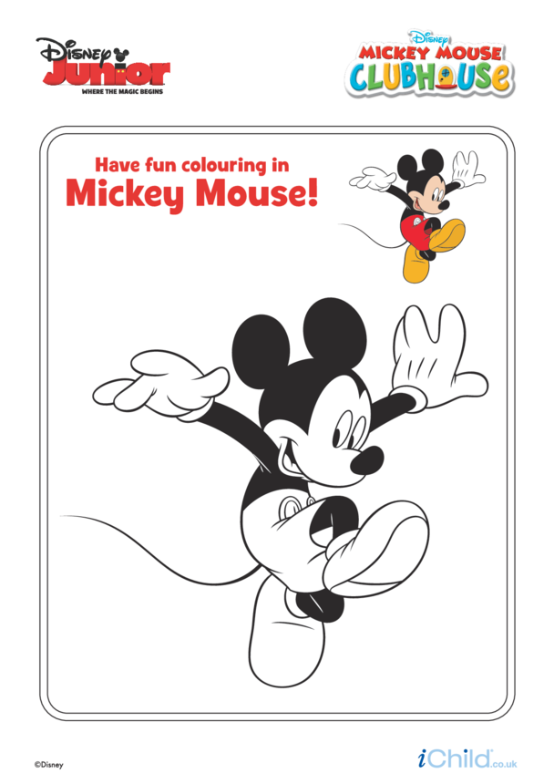 Mickey Mouse Clubhouse: Mickey Colouring- Disney Junior ...