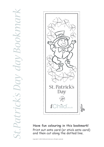 Thumbnail image for the St. Patrick's Day Bookmark activity.