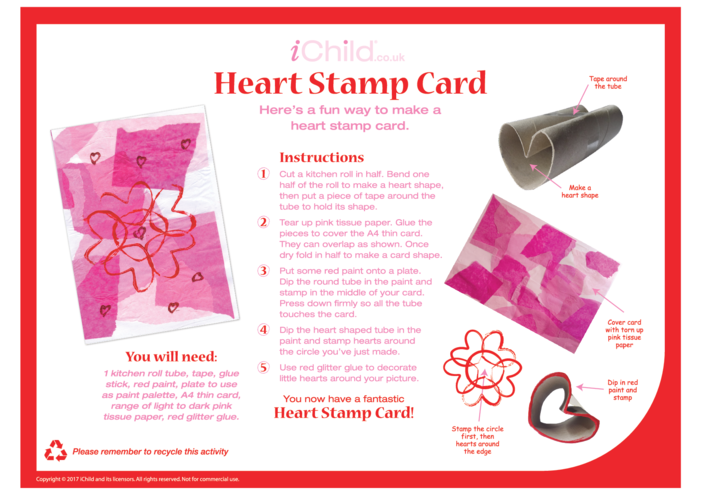 Thumbnail image for the Heart Stamp Card activity.