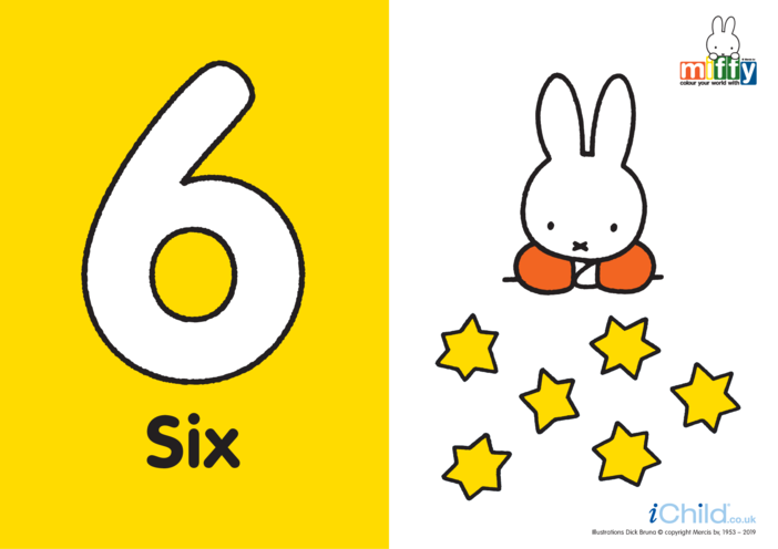 Thumbnail image for the Number 6 with Miffy activity.