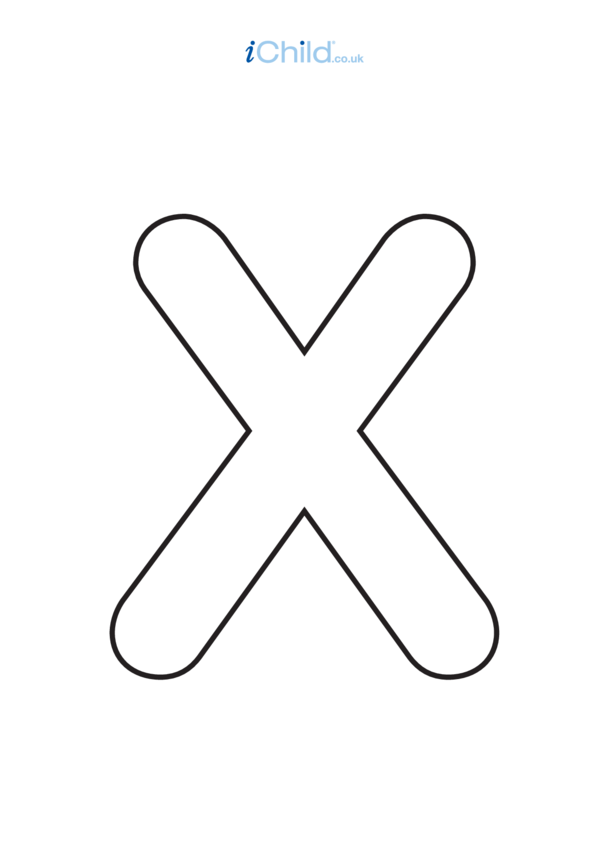 X: Poster of the Letter 'X', black & white