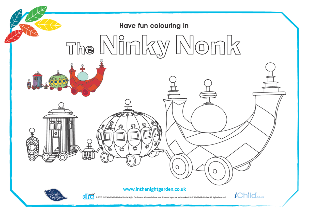 The Ninky Nonk Colouring in Picture