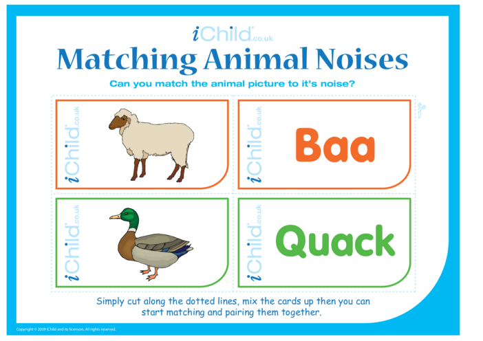 Thumbnail image for the Matching Animal Noises activity.