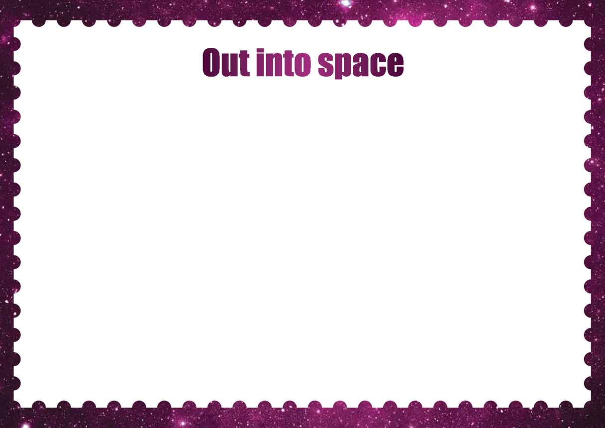 Primary 4) Out Into Space Drawing Template
