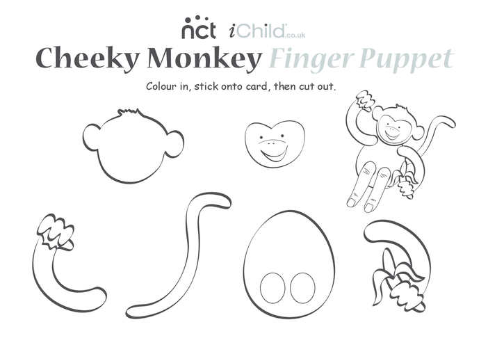 Thumbnail image for the Cheeky Monkey Finger Puppet activity.