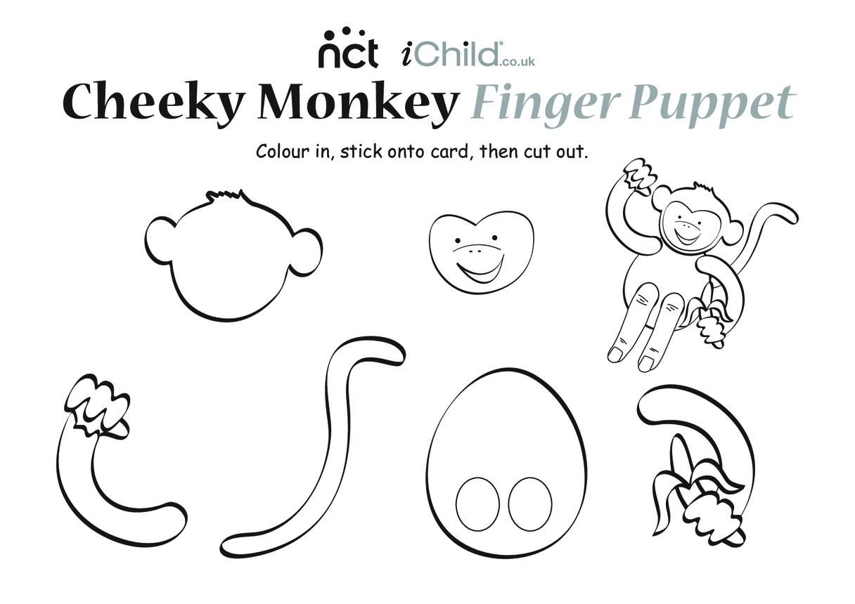 Cheeky Monkey Finger Puppet