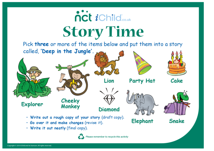 Thumbnail image for the Cheeky Monkey Jungle Story activity.