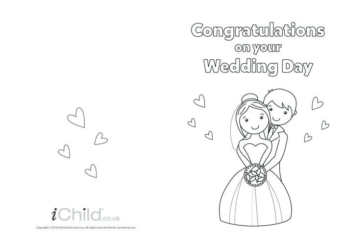 Thumbnail image for the Congratulations on your Wedding Day - Card activity.