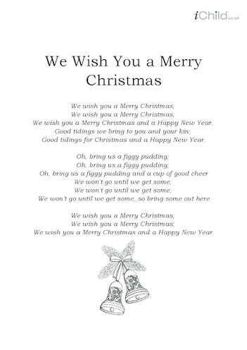 Thumbnail image for the Christmas Carol Lyrics: We Wish You a Merry Christmas activity.