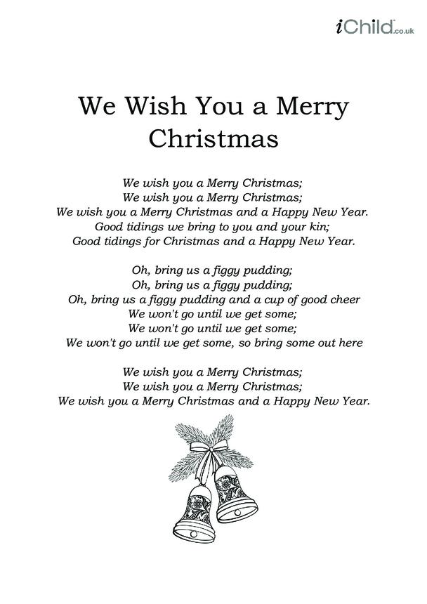 Christmas Carol Lyrics: We Wish You a Merry Christmas