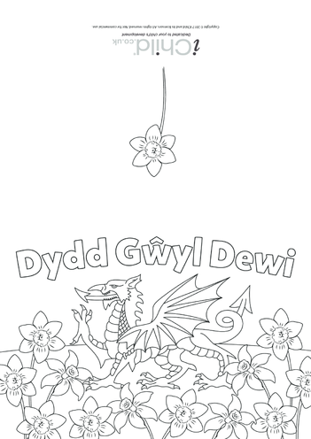 Thumbnail image for the Dydd G?yl Dewi (St. David's Day) Card activity.