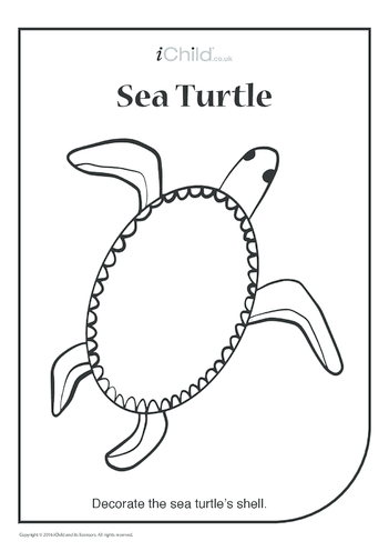 Thumbnail image for the Sea Turtle Collage activity.