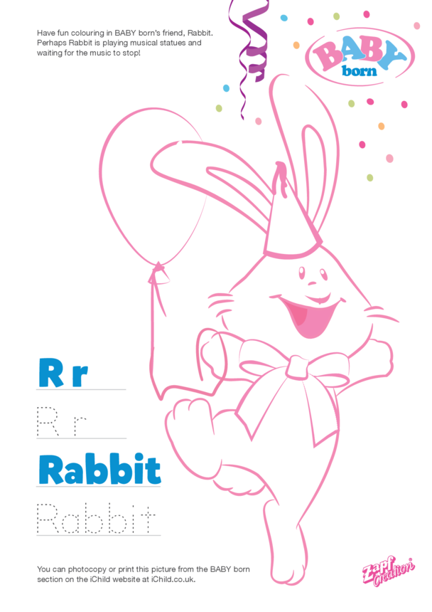 2021 BABY born Rabbit Colouring in Picture