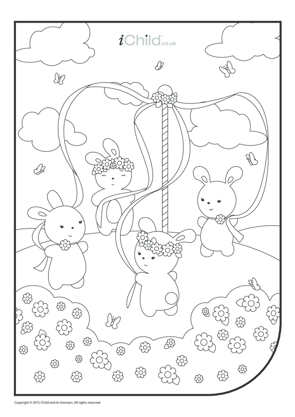 May Day Colouring in Sheet