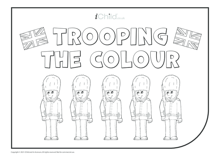 Thumbnail image for the Trooping the Colour Colouring in Picture  activity.