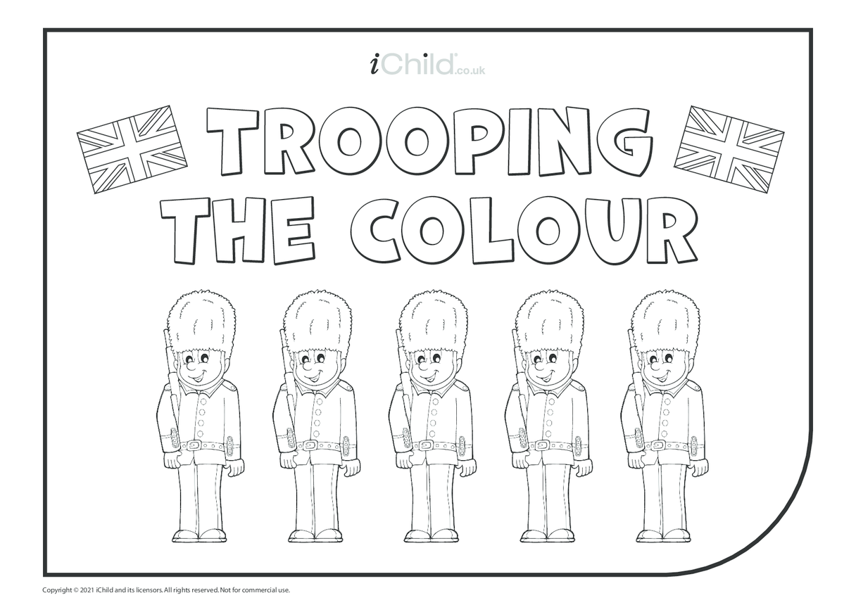Trooping the Colour Colouring in Picture