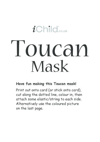 Thumbnail image for the Toucan Animal Mask activity.