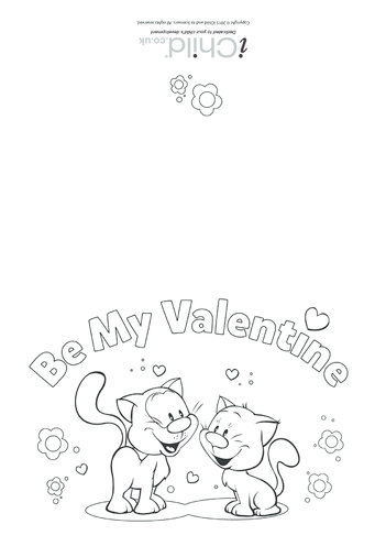 Thumbnail image for the Be My Valentine - Card activity.