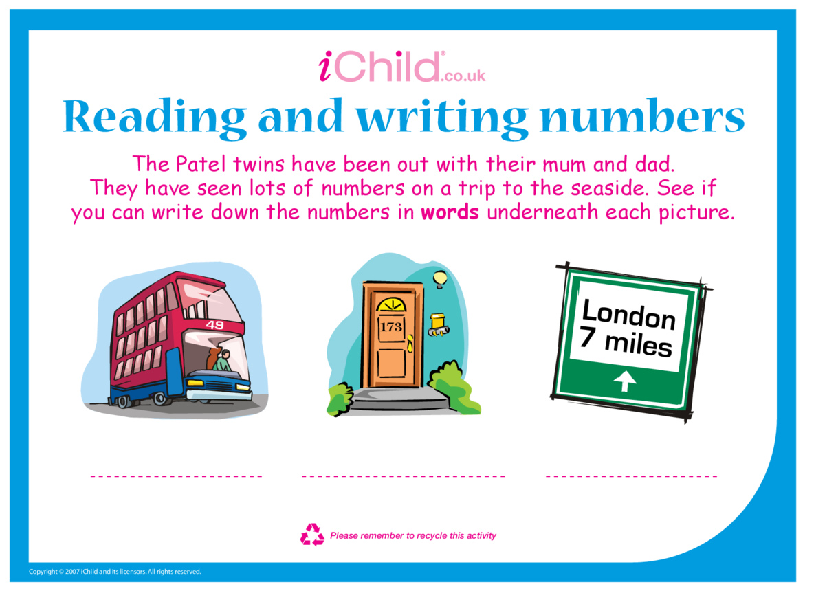 Reading and Writing Numbers 2