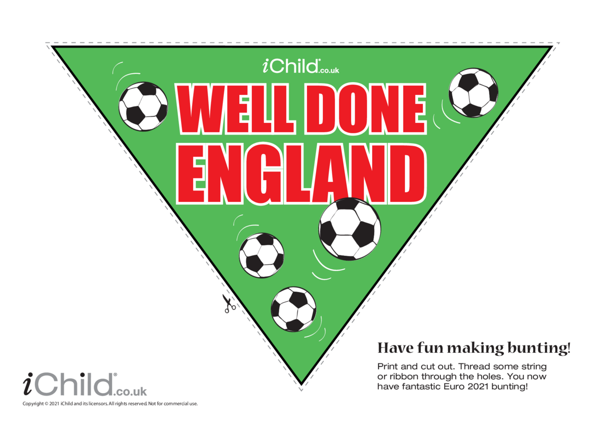 Well Done England Football Bunting