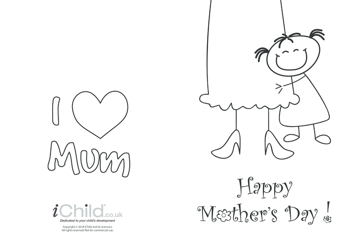 Thumbnail image for the Mother's Day Card - Big Hug (picture 2) activity.