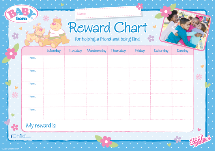 Thumbnail image for the BABY born Reward Chart activity.