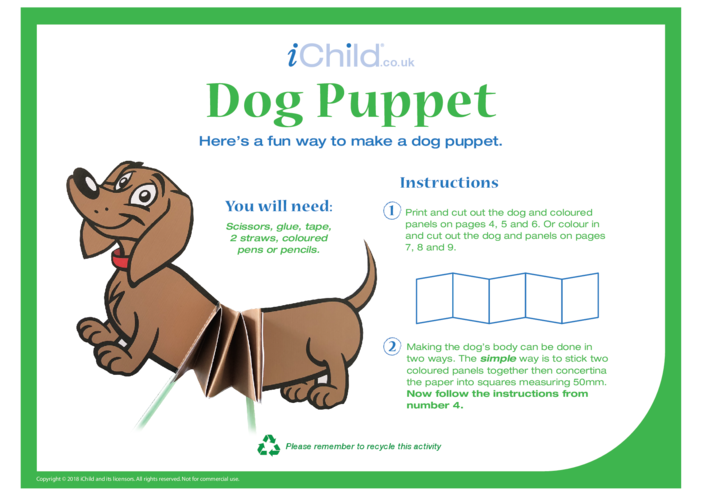 Thumbnail image for the Chinese Dog Puppet activity.