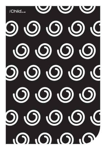 Thumbnail image for the Black & White Poster: Swirly Pattern activity.