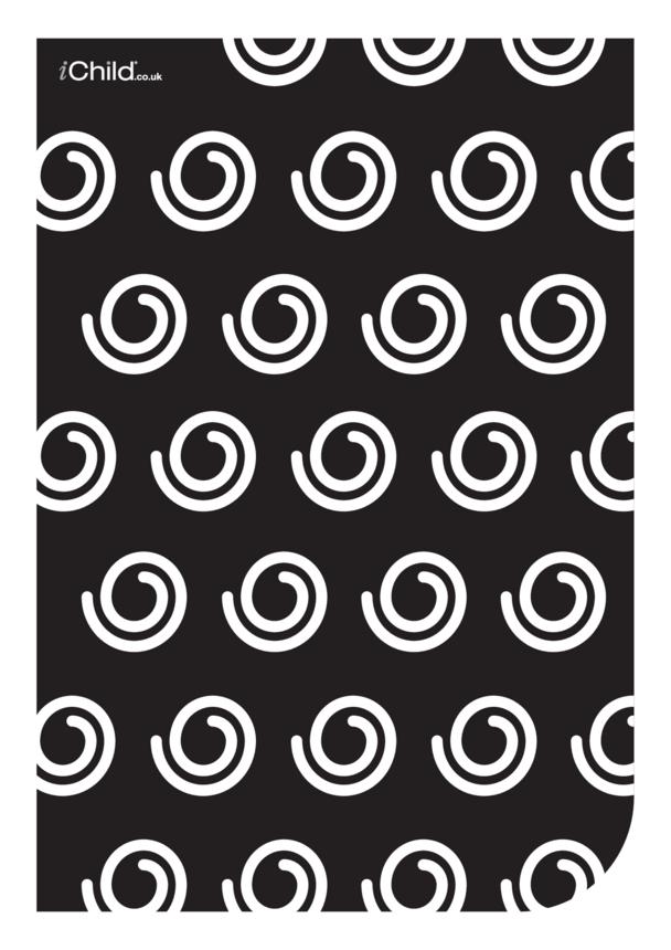 Black & White Poster: Swirly Pattern