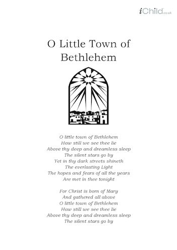 Thumbnail image for the Christmas Carol Lyrics: O Little Town of Bethlehem activity.