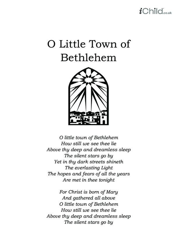 Christmas Carol Lyrics: O Little Town of Bethlehem