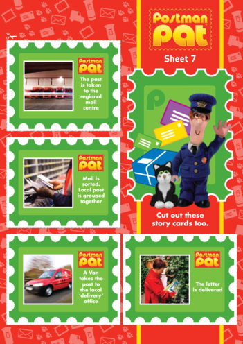 Thumbnail image for the Postman Pat: Story Cards Part 2 (EYFS/KS1) activity.