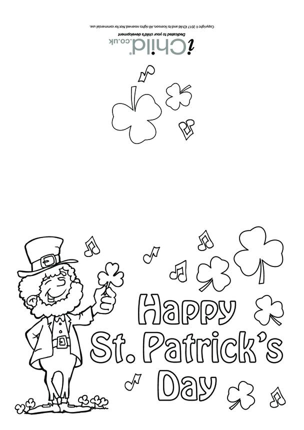 St. Patrick's Day Card (Leprechaun, portrait)
