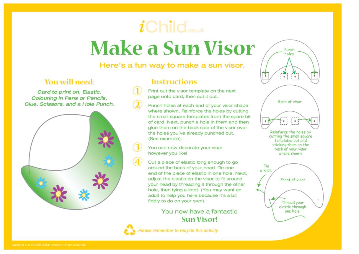 How to Make a Sun Visor Craft