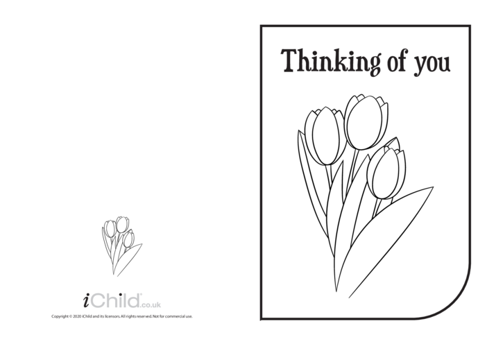 Thumbnail image for the Thinking of You Card (black & white) activity.