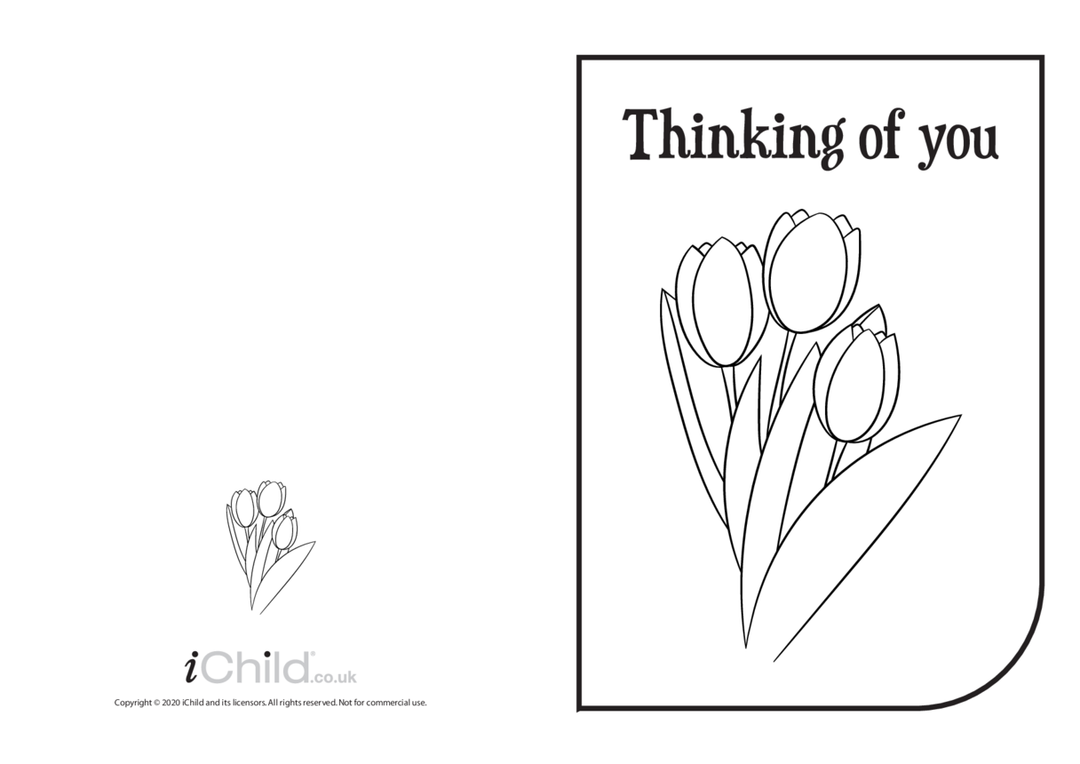 Thinking of You Card (black & white)