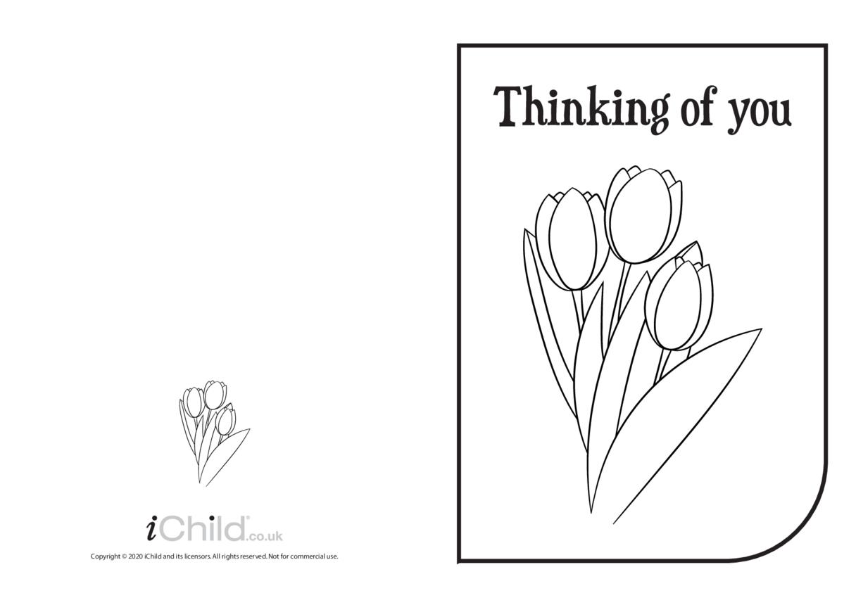 Thinking of You Card (black & white)