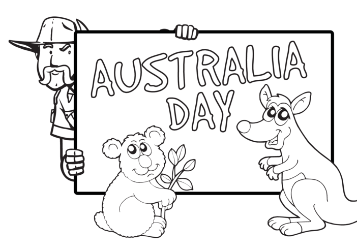 Thumbnail image for the Australia Day (black & white) - Signs & Posters activity.