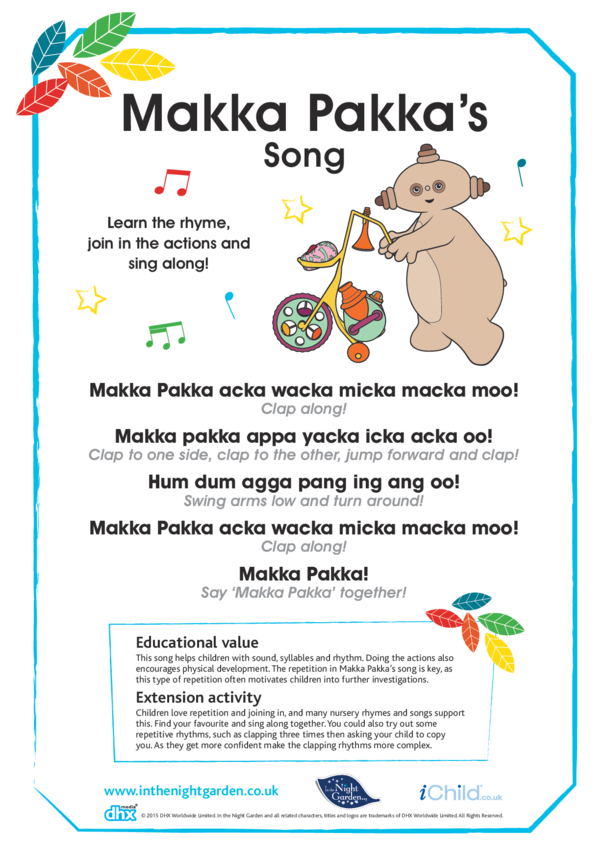 Makka Pakka's Song
