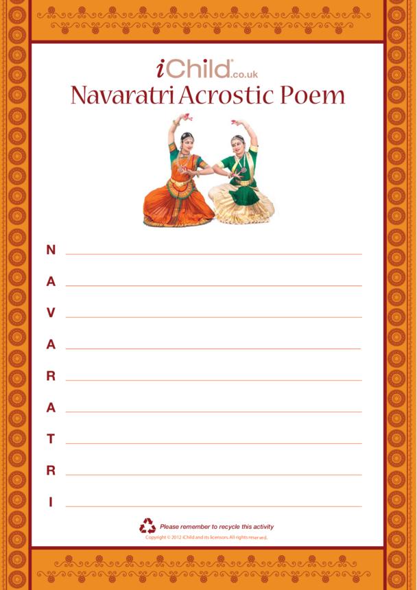 Navaratri Acrostic Poem