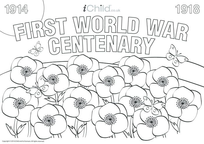 Thumbnail image for the First World War Centenary Colouring in Poster activity.