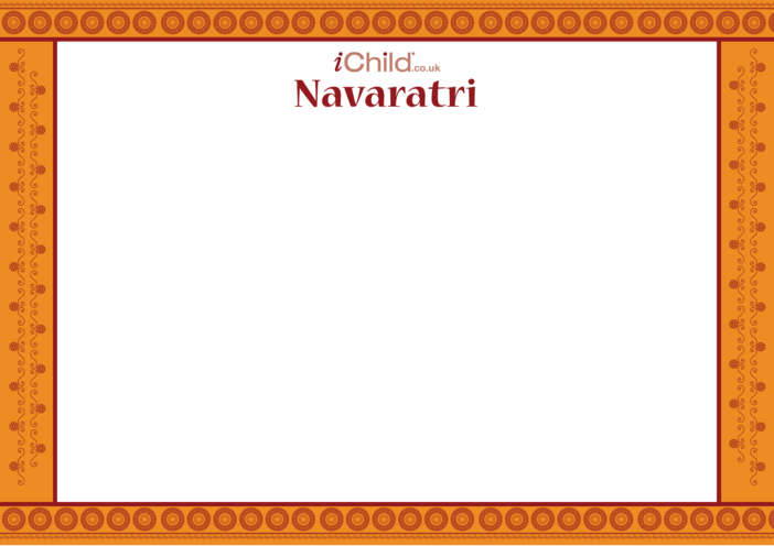 Thumbnail image for the Navaratri Blank Drawing Template activity.