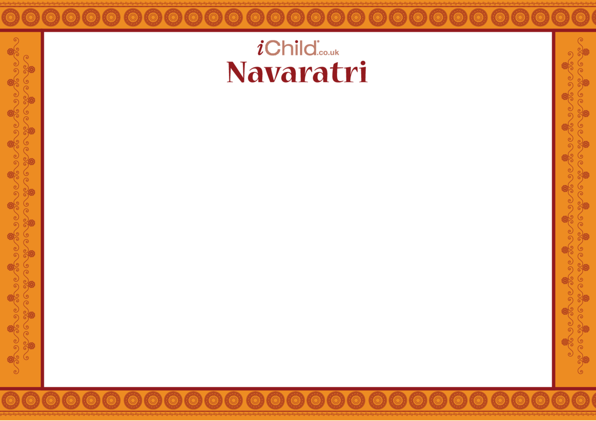 Navaratri Blank Drawing Template