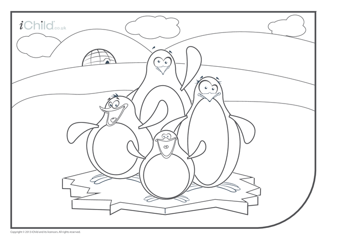 Thumbnail image for the Penguin Colouring in Picture activity.