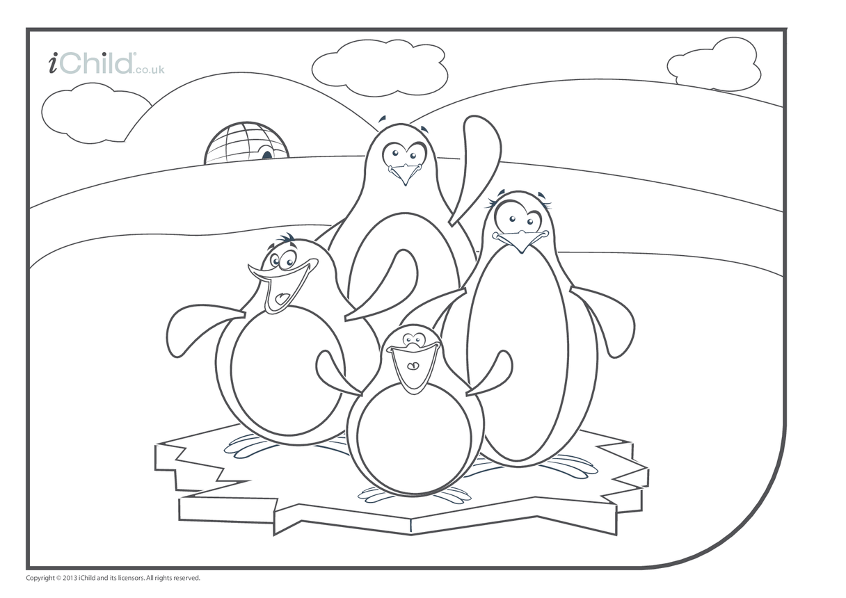 Penguin Colouring in Picture