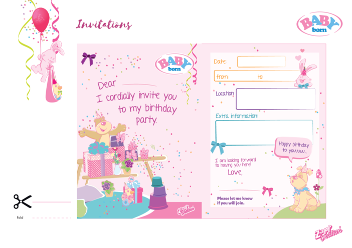 Thumbnail image for the 2021 BABY born party invitations activity.